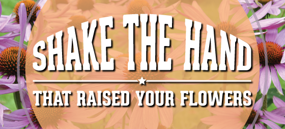 Shake the hand that raised your flowers